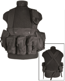 Chest rig 6 pocket - Zwart