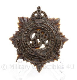 WO2 Britse pet insigne Royal Army Service Corps - mist een pin - 4,5 x 4 cm - origineel