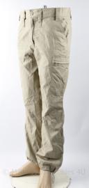 KL Nederlandse leger khaki broek - zomer model ademende stof voor uitzendingen - zeldzaam - maat Medium of Extra Large - gedragen - origineel