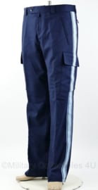 Bundespolizei DT broek - donkerblauw met lichtblauwe bies - maat 52/54 - ongedragen - origineel