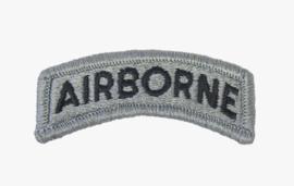 US Army Foliage tab - Airborne - met klittenband - voor ACU camo uniform - 6,2 x 2 cm - origineel