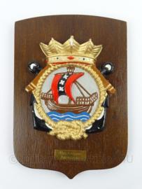 KM Marine wandbord Marine Kazerne Amsterdam - zeldzaam - afmeting 18 x 26 x 1,5 cm - origineel