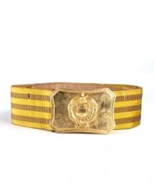 Paradekoppel officier goud  - 5 cm. breed - origineel