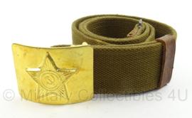 Russische leger webbing koppel met gouden parade slot en USSR teken - lengte 91 cm - origineel