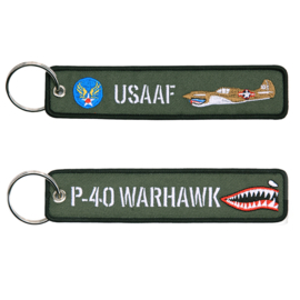 Sleutelhanger WW2 US Army Air Force USAAF US P-40 Warhawk - 13 x 3 cm
