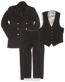 Marine mantel, broek & gilet set - ongebruikt - maat 46 = small - origineel