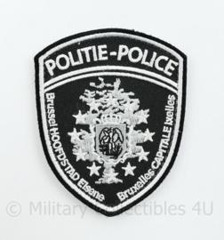 Belgische Politie embleem Brussel - 9 x 7 cm - origineel