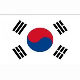 Vlag Zuid Korea - Polyester -  1 x 1,5 meter