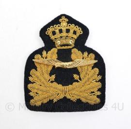 Klu Luchtmacht hoofofficier pet insigne metaaldraad - 8,5 x 7 cm - origineel