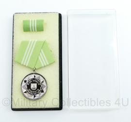DDR medaille für treue Dienste inclusief doosje - ter decoratie - origineel