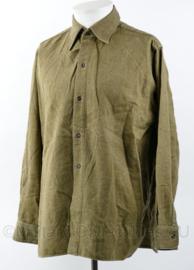 Zeldzaam wollen MVO 1954 overhemd - lijkt op Canadees Wo2 model - maat 15 ¼ - origineel