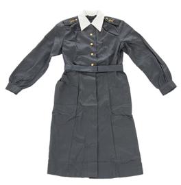Vintage dames jurk katoen Donkergrijs met wit boord - ongedragen - Dames maat 36 -  origineel