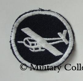 Overseas cap insigne - glider infantry - manschappen - donkerblauw met wit