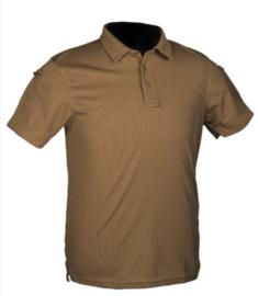 Tactical Quick Dry Poloshirt korte mouw - met klittenband op de mouwen -  COYOTE - nieuw gemaakt