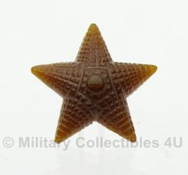 Russische rang sterren SET bruin - 5 stuks - origineel