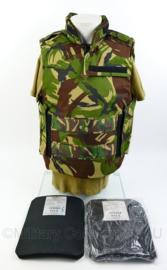 Defensie 1e model kogelwerend vest met Ballistische inhoud en keramische platen - 8000/ 9505 -CAT NIJ 3 en 4 - nieuwstaat! - origineel