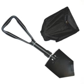 Klapschep metaal met hoes - Zwart
