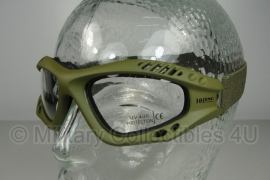 Tactical bril - heldere glazen-  groen frame