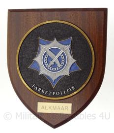 Nederlandse Parketpolitie Alkmaar wandbord - zeldzaam - 18 x 15 cm - origineel