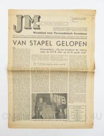 krant JM Je Maintiendrai van 21 september 1945 - origineel