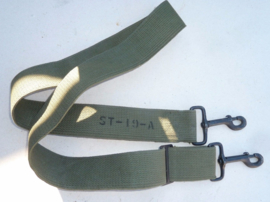 US Army Signal Corps HEAVY Carry Strap model ST-19-A - 150 cm / 5cm. origineel WO2