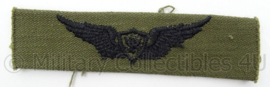 US Army of USAF US Air Force borst wing - subdued - afmeting 2,5 x 10 cm - Origineel