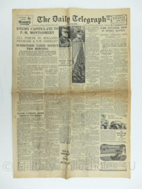 The Daily Telegraph krant - 5 May 1945 - origineel