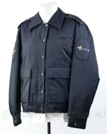 Nederlandse politie dames parka kort model met voering 1990 - overgangsmodel van gemeentepolitie naar regiopolitie- maat 44 - origineel