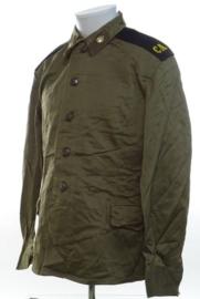 Russische uniform jas groene knopen - met insignes - meerdere maten - origineel