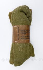 Socks, wool, cushion sole OD  - size 9 - 9,5-10 - origineel en ongebruikt WO2 US 1944!