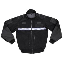 Britse politie POLICE fleece jack zwart & geblokt - origineel