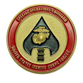 US Army Special Operations Command coin - United States Marine Corps Forces - 40 mm diameter