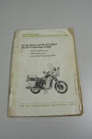 DDR Volkspolizei Handboek Motor  Motorrad MZ ETZ 250 F - origineel