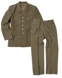 Class A jas en broek - bruikbaar als wo2 us model - groen - ongedragen maar origineel