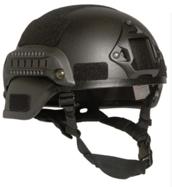 MICH 2000 helm met rail - zwart