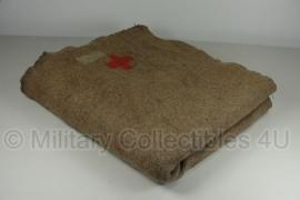 Zwitserse leger deken - licht gebruikt - 188 x 160 cm - origineel 1900!