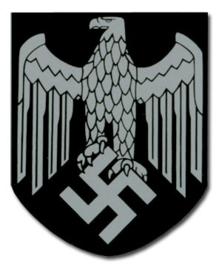 Single Heer / Wehrmacht adelaar decal - enkele decal - 3,3 x 4 cm
