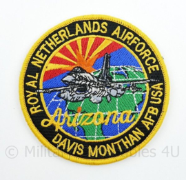 Royal Netherlands Airforce Davis Monthan AFB ISA Arizona embleem  met klittenband- 9 cm. diameter