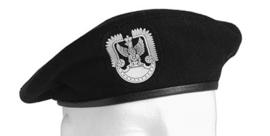 Poolse baret - ZWART - maat 54 of 55 - origineel
