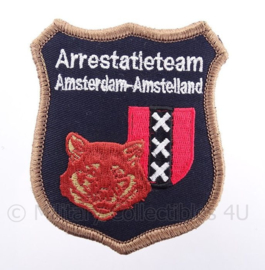 Arrestatieteam Amsterdam-Amstelland embleem - met klittenband - afmeting 7 x 9 cm