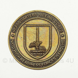 Coin Headquarters 1(GE/NL) Corps - NATO High Readiness Forces (Land) HQ Operation Peregrine Sword 2012- origineel