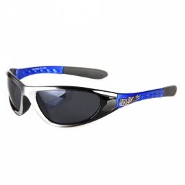 Biker zonnebril - zilver/blauw (nr.35)