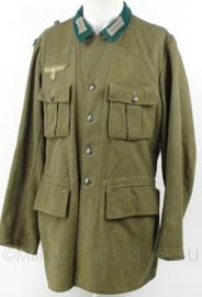 WO2 Duitse M36 uniform jas - omgebouwd WO2 Zweeds jasje 1943 zonder schouder stukken - maat 93L - replica