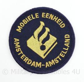 Mobiele eenheid Amsterdam Amstelland embleem  - met klittenband - diameter 9 cm - origineel