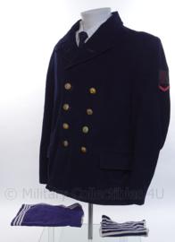 """KM Koninklijke Marine Matrozen uniform jas met dubbele rij knopen Bonker- rang """"matroos der 2de klasse"""" - maat M - origineel"""