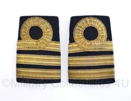 Koninklijke Marine antieke begin 1900 Epauletten Kapitein Luitenant der Zee - 10,5 x 7 cm - origineel