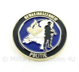Nederlandse Politie bewakingseenheid coin Dutch National Police - zeldzaam - origineel