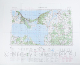 Poolse Stafkaart Swinoujscie N-33-77,78 - 1 : 100.000 - 64 x 84 cm - origineel