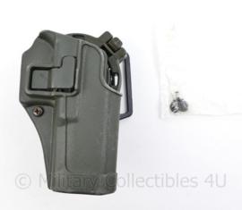 Defensie groene Blackhawk Serpa CQC holster voor Glock 17 en Glock 22  met koppellus en draaimodule - origineel