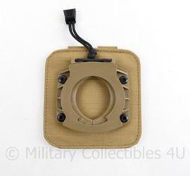 Defensie en Korps Mariniers coyote Profile Equipment MOLLE connector TPP to MOLLE RAIDER - NIEUW  - 12,5 x 12 cm - NIEUW - origineel